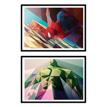 Wall Editions - Spiderman and Hulk - 2 Affiches 30x40 cm
