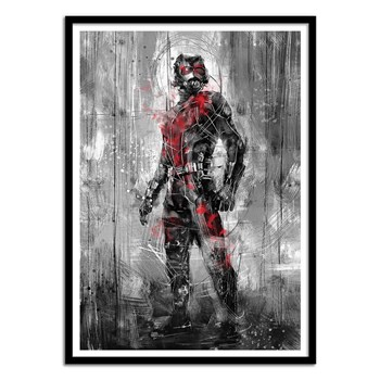 Wall Editions - Illustration Super Heros - Antman - Affiche art 50x70 cm