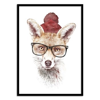 Wall Editions - Illustration Fox Renard - It's pretty cold outside - Affiche art 50x70 cm