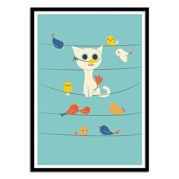 Wall Editions - Bird Watching - Affiche art 50 x 70 cm pour enfants