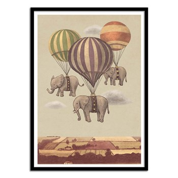 Wall Editions - Flight of the Elephants - Affiche art 50 x 70 cm - multicolore