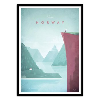 Wall Editions - Visit Norway - Affiche art 50 x 70 cm - multicolore