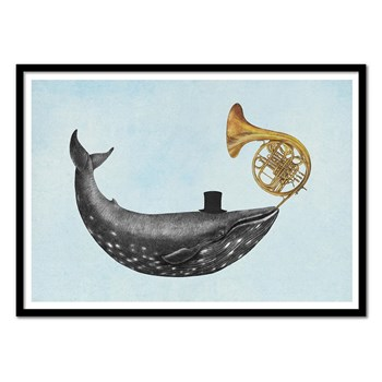 Wall Editions - Whale Song - Affiche art 50 x 70 cm - multicolore