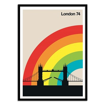 Wall Editions - Illustration Voyage - Londres 74 - Affiche art 50 x 70 cm