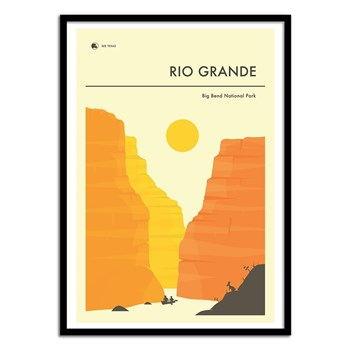 Wall Editions - Illustration Voyage - Rio Grande - Affiche art 50x70 cm
