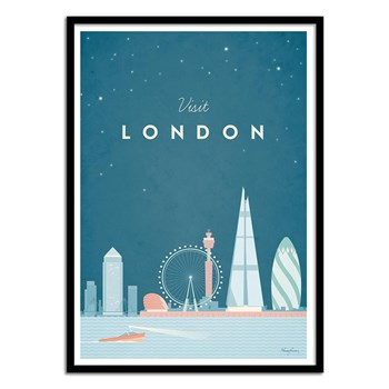 Wall Editions - Illustration Voyage - Visit London - Affiche art 50x70 cm