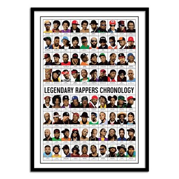 Wall Editions - Legendary Rappers Chronology - Affiche art 50 x 100 cm
