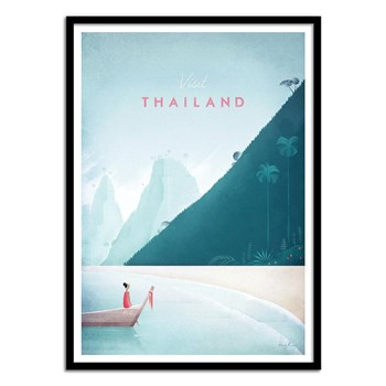 Wall Editions - Illustration Voyage - Visit Thailand - Affiche art 50 x 70 cm