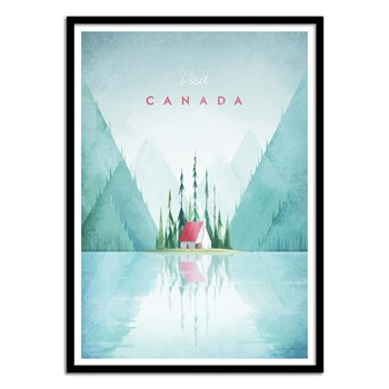 Wall Editions - Illustration Voyage - Visit Canada - Affiche art 50 x 70 cm