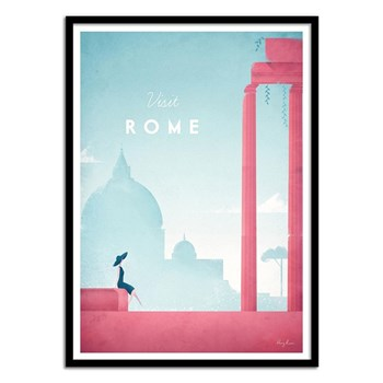 Wall Editions - Illustration Voyage - Visit Rome - Affiche art 50 x 70 cm