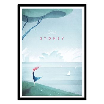 Wall Editions - Illustration Voyage - Visit Sydney - Affiche art 50 x 70 cm
