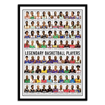 Wall Editions - Legendary Basketball Players - Affiche art 50 x 70 cm