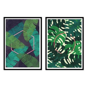 Wall Editions - Mirage and Oasis - Lot de 2 affiches 30 x 40 cm - vert