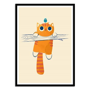Wall Editions - Fat Cat little Bird - Affiche art 50 x 70 cm