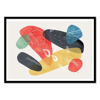 Wall Editions - Illustration abstraite - Arion - Affiche art 50 x 70 cm