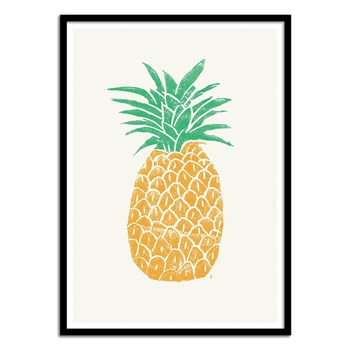 Wall Editions - Illustration Fruit - Ananas by Tracie Andrews - Affiche art 50 x 70 cm
