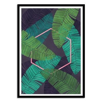 Wall Editions - Jungle Mirage - Affiche art 50 x 70 cm - vert