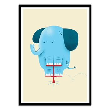 Wall Editions - Pogo Elephant - Affiche art 50 x 70 cm - multicolore