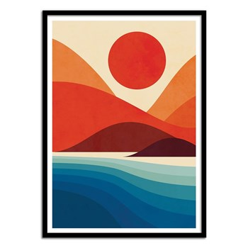 Wall Editions - Seaside - Affiche art - multicolore