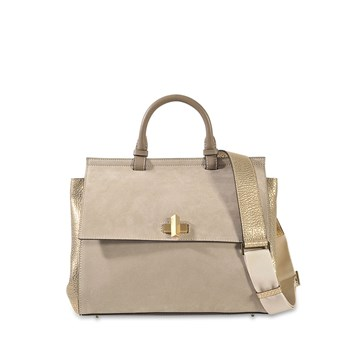 Hugo Boss - Bespoke soft MG - Sac à main en cuir - beige