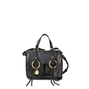 Filipa Medium - Sac à main en cuir - noir