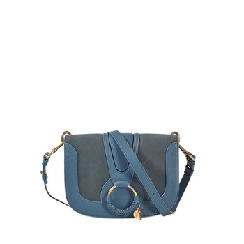 Hana Medium - Sac à main en cuir - bleu