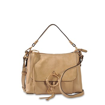 Joan Medium - Hobo en cuir - beige