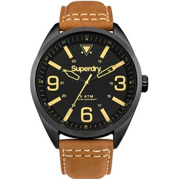 Military - Montre avec bracelet en cuir - marron