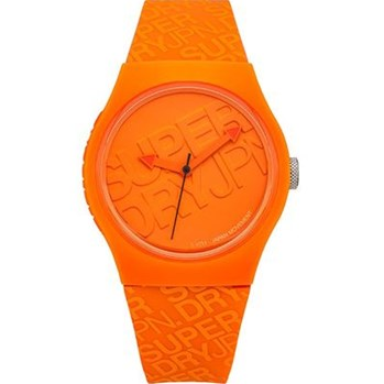 Superdry - Urban - Montre avec bracelet en silicone - orange