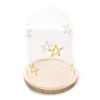 Home and Styling - Cloche de verre - doré