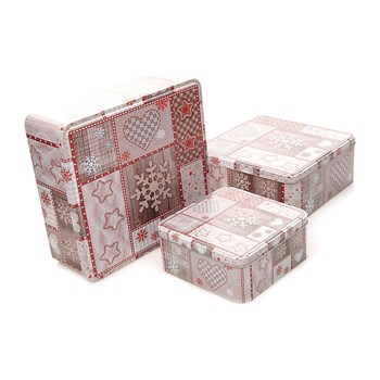 Home and Styling - Lote de 3 cajas cuadradas - beige
