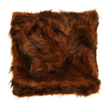 Home and Styling - Coussin imitation fourrure - marron