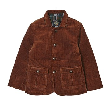 Veste en velours cottelé - marron