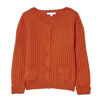 Jacadi - Kurze Strickjacke - orange
