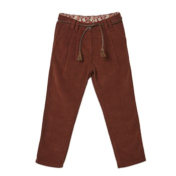 Pantalon en velours côtelé - marron