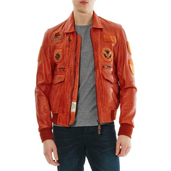 Hawk Liverpool - Lederjacke - orange