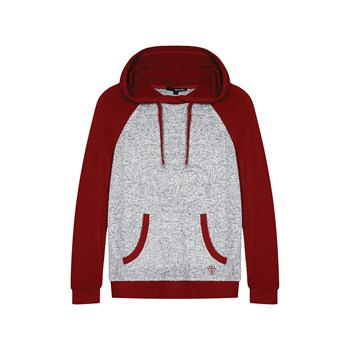 Sweat à capuche - rouge
