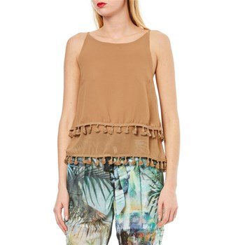 Molly Bracken - Top avec pompons - camel