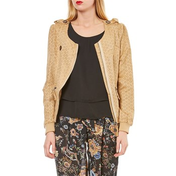 Sweat-shirt Jacke - beige