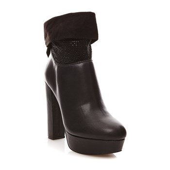 TRONCHETTO MICROSTRASS - Boots - noir