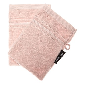 Lot de 2 gants de toilette 500g - rose