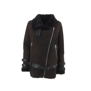 Manteau en mouton - marron