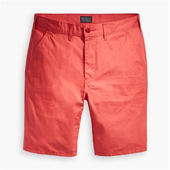 Straight chino - Bermuda - rouge