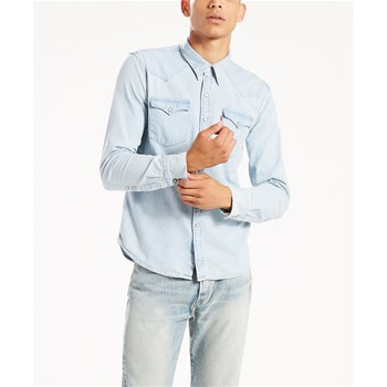 Barstow western - Camicia in jeans - blu jeans