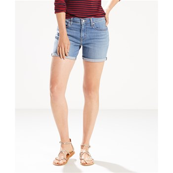 Mid length - Short - denim azul