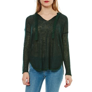 Angla - Pull tunique 30% mohair, 27% laine - vert