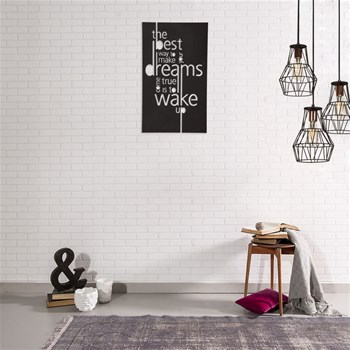 Métal Décor - Dreams 2 - Decoración de pared - negro
