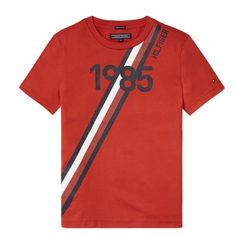 Tommy Hilfiger - Ame Global - T-shirt manches courtes - ecarlate