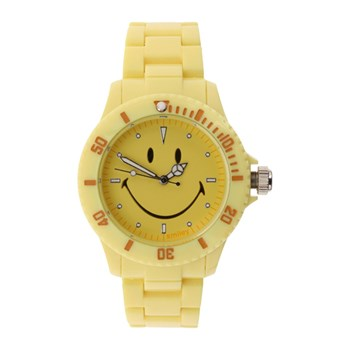 Smiley - Reloj analógico - amarillo