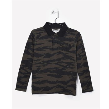 Nesh - Polo manches longues - army